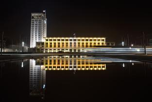Le Havre City Hall night view